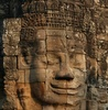 Mysterious face - Cambodia - Siem Reap province - Angkor - Angkor Thom - Bayon temple
